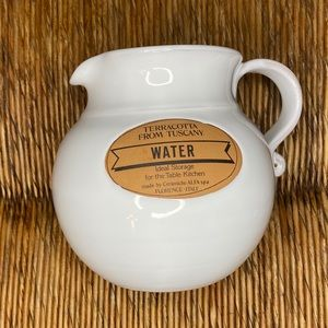 Terracotta From Tuscany Water Jug Made In Italy